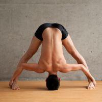 Standing Separate-Leg Stretching Pose: Dandayamana Bibhaktapada Paschimottanasana